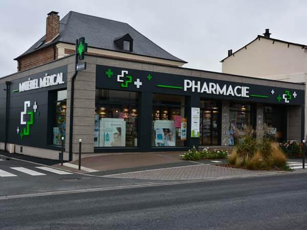 Construction bois d'une pharmacie à Origny-Sainte-Benoite (02)