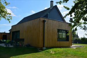 Extension sur construction en ossature bois à Lafresnoye (80)