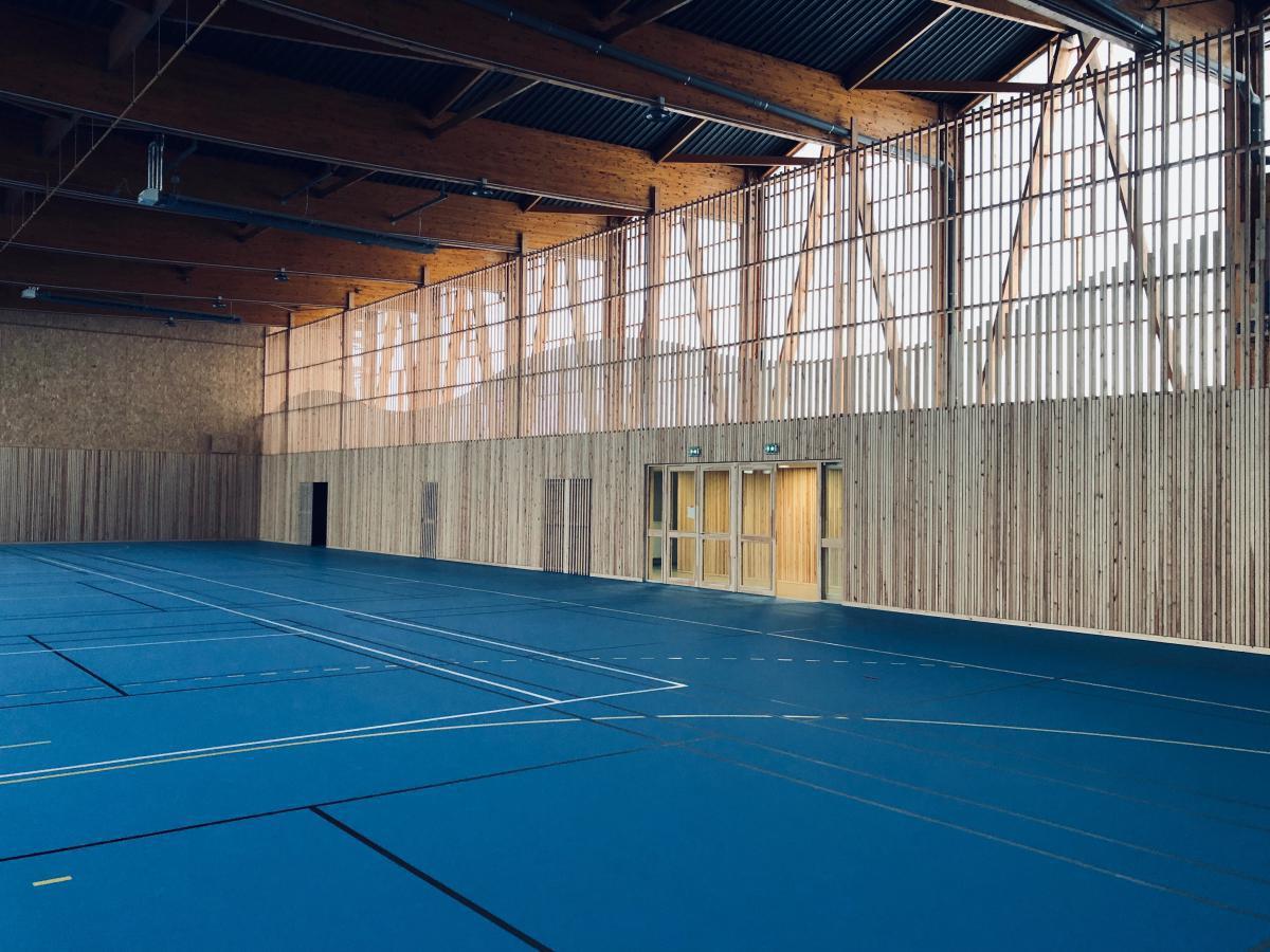 Rénovation & extension bois salle de sport à Angres (62)
