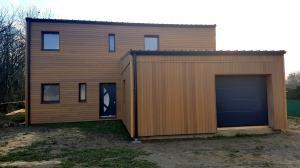 Construction d'une maison bois style cubique à Manicamp (02)
