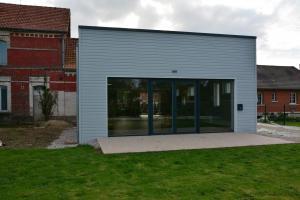 Réalisation salle des fêtes ossature bois de Le Quesnoy-en-Artois