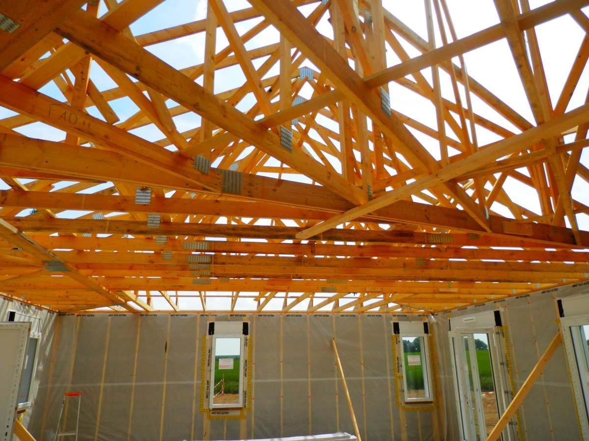 Charpente maison ossature bois par Coquart dans le 62 à Duisans