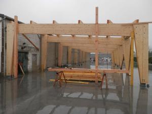 Extension ossature bois charpente Rosières-en-Santerre (80)