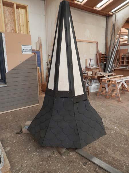 Réalisation d'un clocher ossature bois