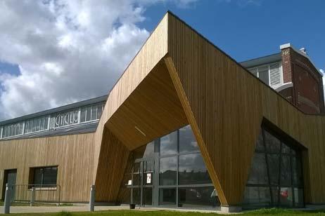 Construction de bâtiment ossature bois