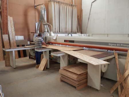 Découpe panneau ossature bois