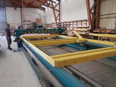 Découpe structure ossature bois