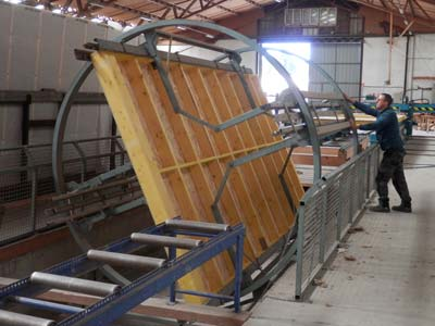 Préfabrication des murs ossature bois