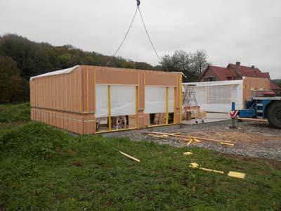 Rapidité de fabrication et de pose d'une maison ossature bois