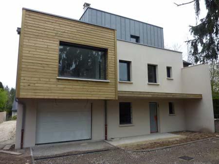 Réalisation d'une construction de maison ossature bois
