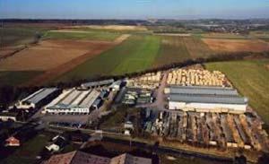 Vue du ciel de la société Coquart dans le Pas-de-Calais